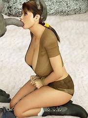 3D Floosie gives Owner his first taste of twat