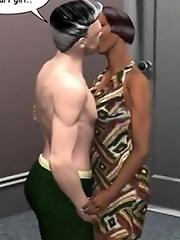 Cheating: 3D Brunette hardcore action