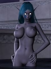 3D Highschool girl deepthroats schlong