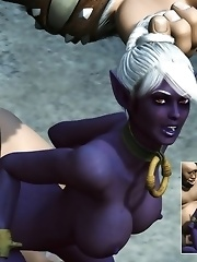 Horny Blood Elf fucked by giants