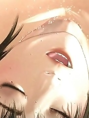 Wet slut fucked by tentacle monster